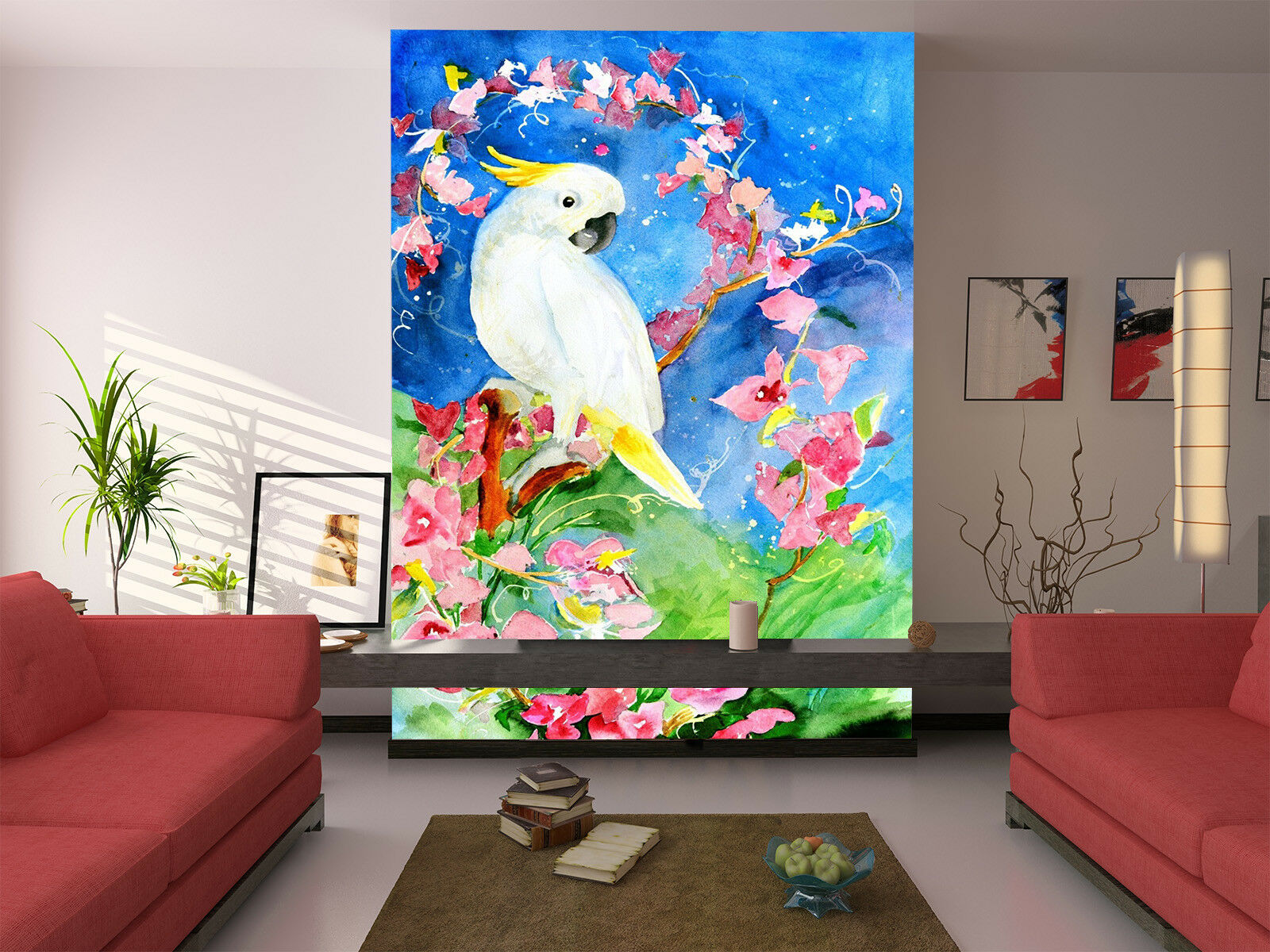 3D White Bird 471 Wallpaper Murals Wall Print Wallpaper Mural AJ WALL AU Kyra