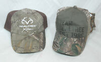 Team Realtree Outdoor Cap Hat choose between Camo with Brown Mesh or moss green
