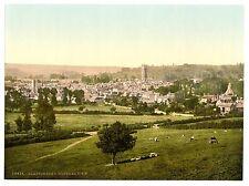 4 Victorian Views of Glastonbury Abbey Tor St Josephs Chapel town Old Photos NEW
