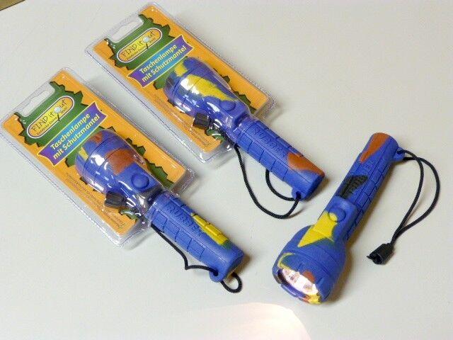 72 x Kinder Krypton Taschenlampe mit Gummi Schutzmantel outdoor - Neu - OVP