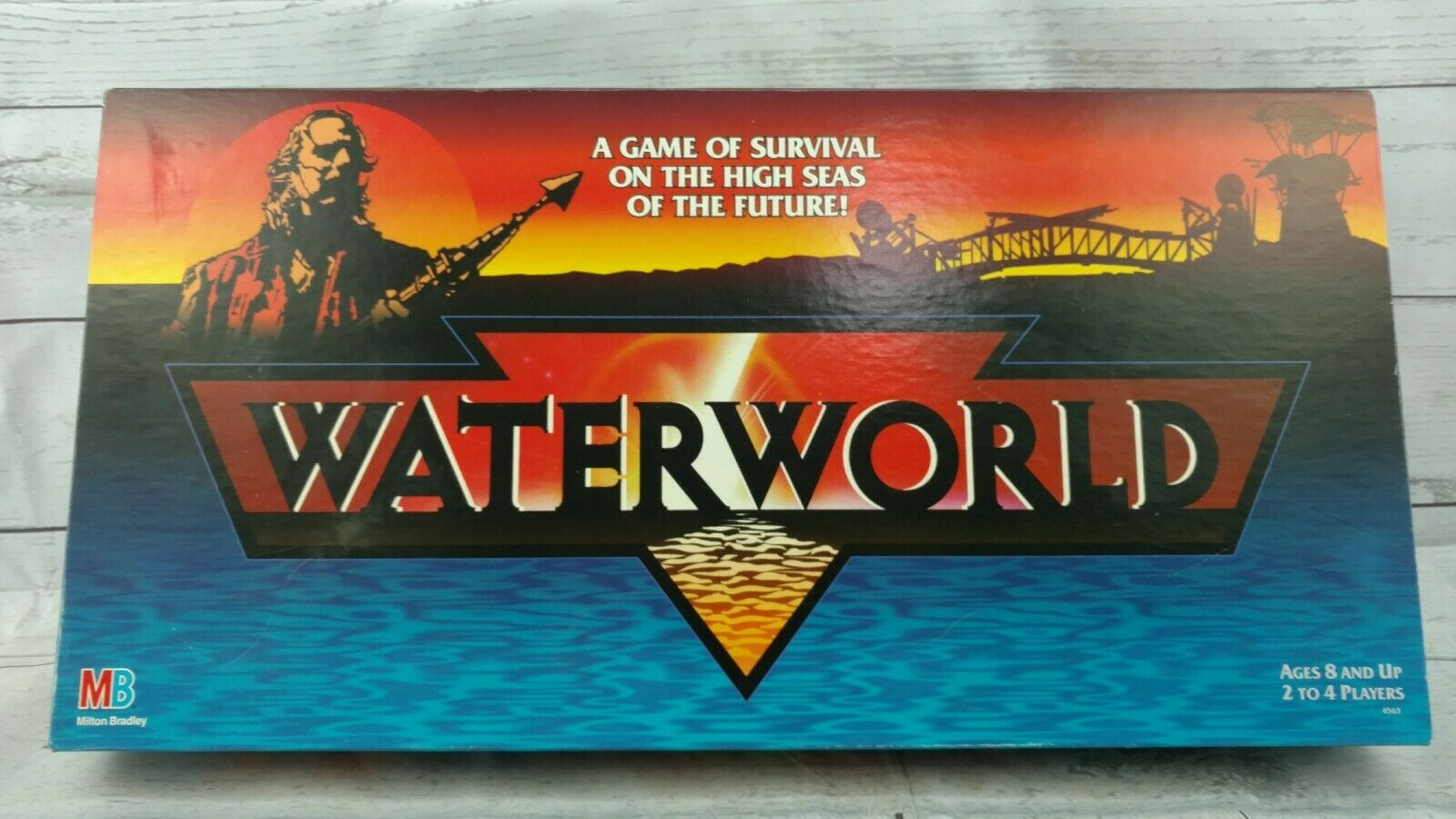 Waterworld Movie Survival of the High Seas Complete Science Fiction Board Game