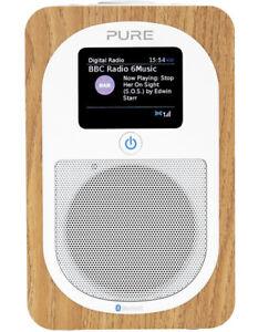 Pure Evoke H3 Portable DAB/DAB+ and FM Radi, with Bluetooth - Oak