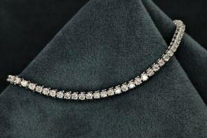 3-25Ct-Round-Brilliant-Cut-Diamond-Tennis-Bracelet-14K-White-Solid-Gold-Finish