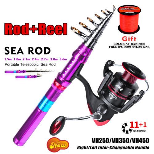 Proberos Carbone Sea Fishing Rod Super Hard Long Shot Fishing Rod Set