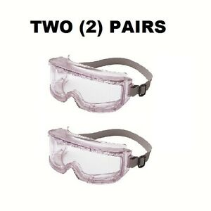 2-PAIRS-Uvex-Futura-Goggles-Clear-Frame-Clear-Lens-Impact-Dust-Resistant-NEW