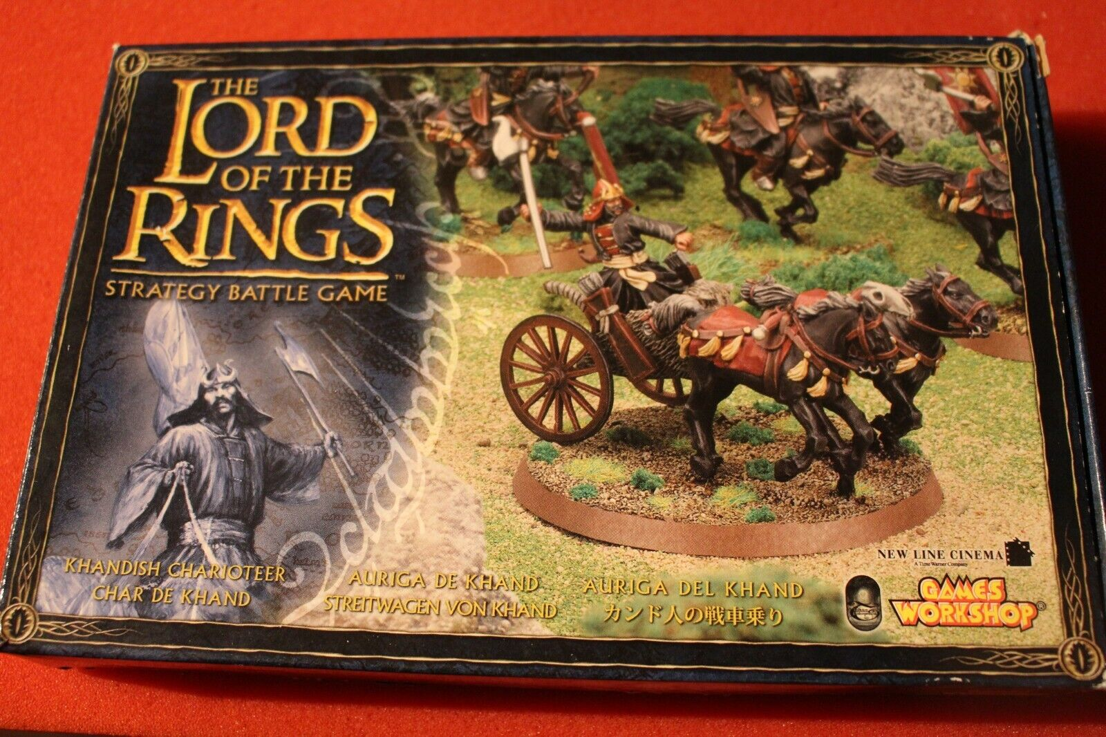 Games Workshop Lord of the Rings Khandish Charioteer Chariot NIB Metal Harad New