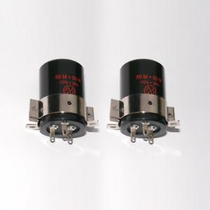 2x-JJ-Elko-50-50uF-500V-incl-clamp-Schelle-capacitor-50-F