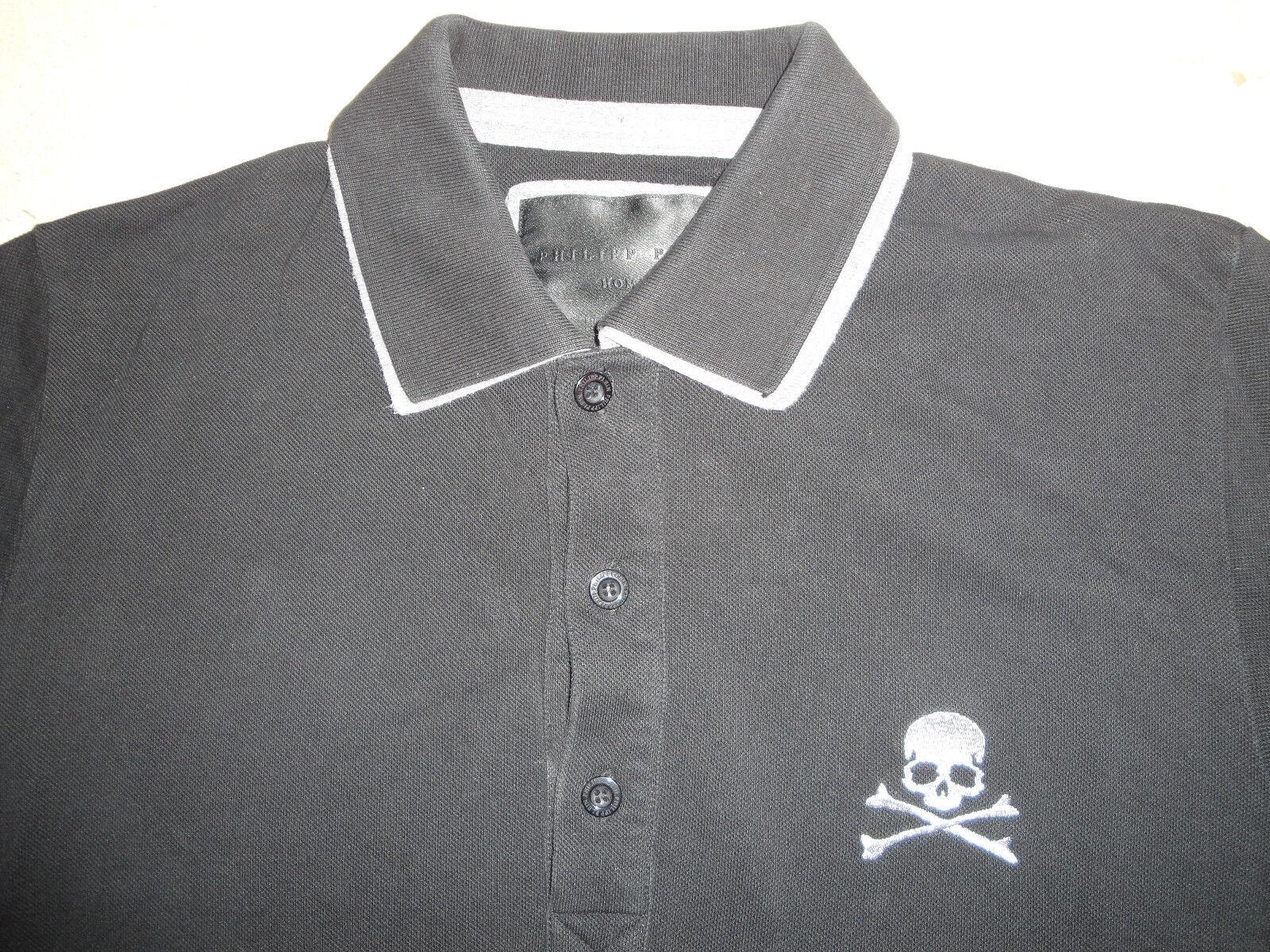 77c757d5bec68 ... Philippe Plein Homme Polo Noir Manches Longues Taille M Top Haut Haut  Top Tee-shirt ...