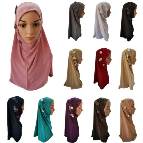 Muslim Hijab Islamic Turban Women Under Scarf Flower Head Cover Inner Cap Wrap