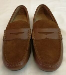 04ef1c607b4 Polo Ralph Lauren Wes Suede Leather Penny Loafer Shoe Brown uk 6.5 ...