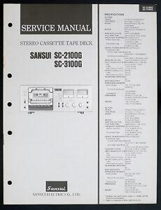 Sansui-sc-2100g-SC-3100g-original-stereo-cassette-tape-deck-service-manual-O153