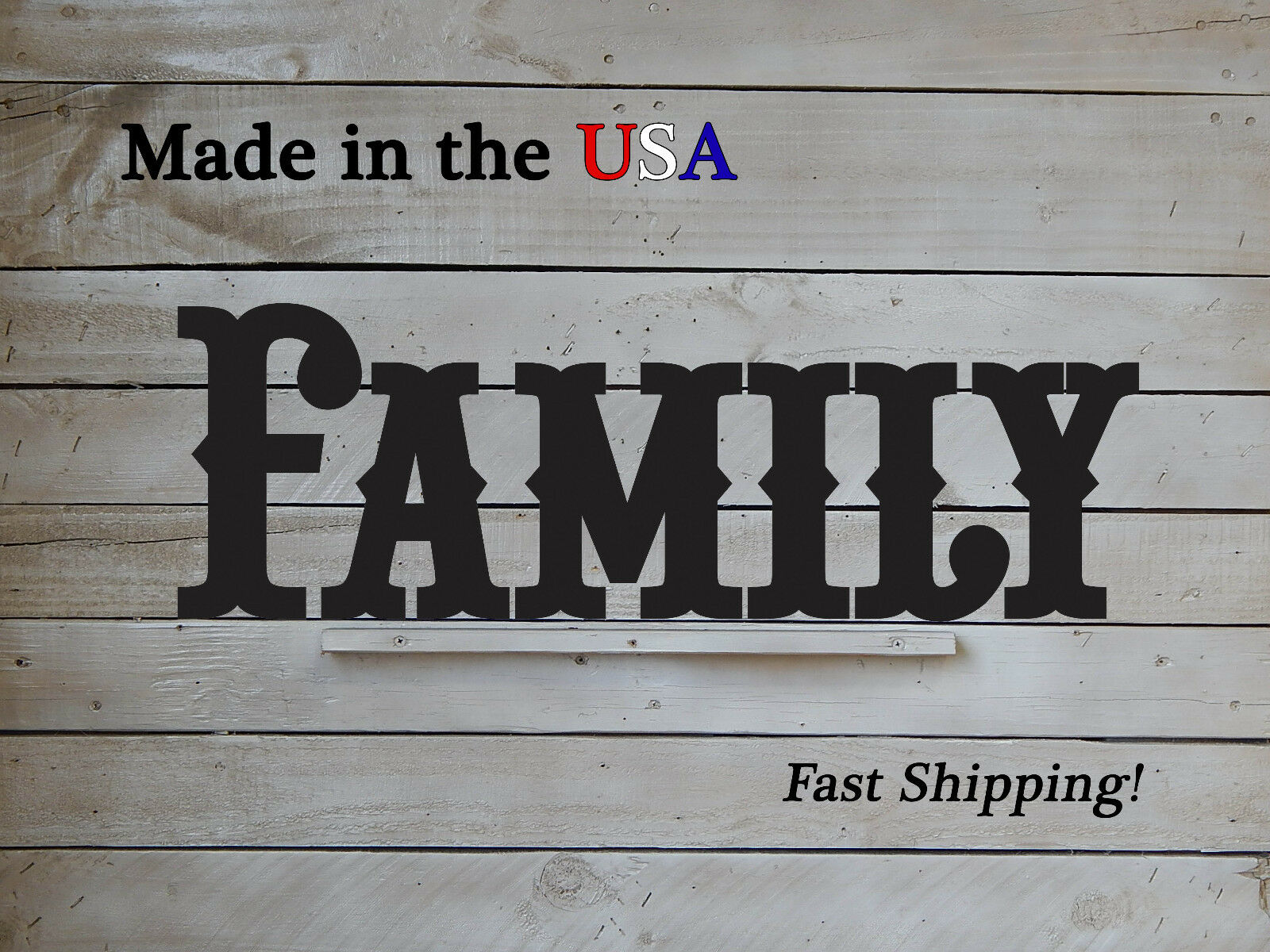 6 Piece Metal Family Sign-Metal Word Art-Living Room Decor-Family Signs-W1117