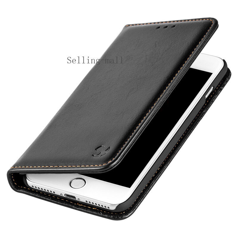 iphone 5 protective case black removable leather flip wallet protective cover 14560