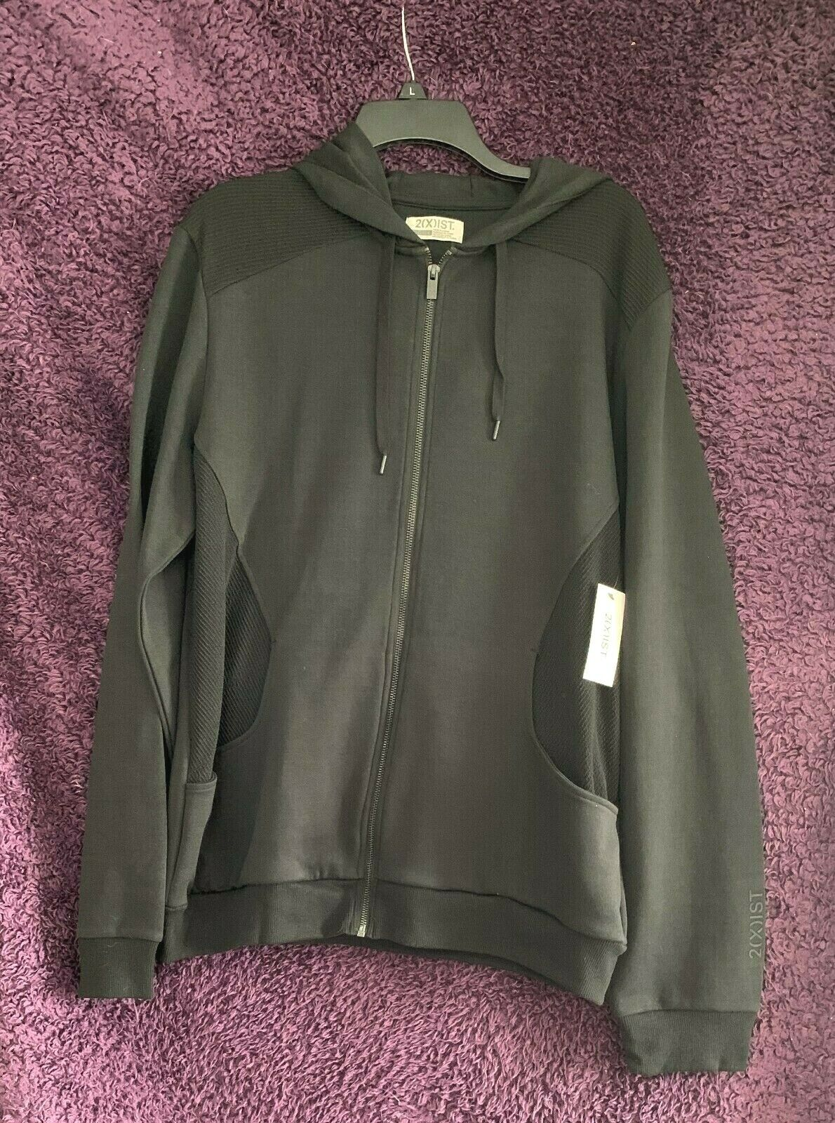 2(X)ist Cotton & Polyester Black Or Red Hooded Jacket With Vented Sides