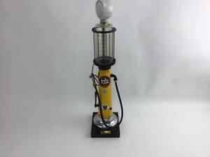 Vintage Gas Pump Atlantic White Flash Plus Gasoline Pump Sold For Decoration