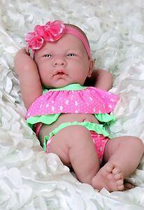 Baby-Doll-Summer-Girl-Preemie-Berenguer-Newborn-Clothes-Alive-Vinyl-14-034-lifelike
