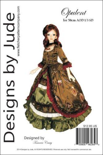 Opulent Victorian Gown Pattern for 58cm AOD BJD SD Dolls Angel of Dreams