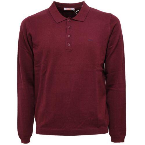 Men Polo Wool Sweater cotton Sun Maglione Uomo 6311w Bordeaux 68 zPTWwBRP5q