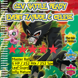 Zarude-amp-SHINY-EVENTO-evliya-2020-6IV-POKEMON-SPADA-amp-SCUDO-Battaglia-pronto