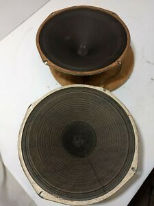 Paar-2-Vintage-Magnavox-12-Zoll-Field-Coil-Lautsprecher-250-Ohm-Bereich-MS-BD
