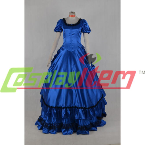 Blue Gothic Victorian Gown Interview with the Vampire Claudia Cosplay dress