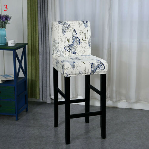 Arm Chair Cover Home Hotel Bar Short Back Chair Covers Seat Cover Slipcover ##