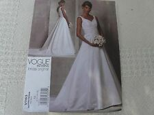 Vogue 1163 Bridal original fitted wedding gown  Sewing Pattern size 6-8-10-12