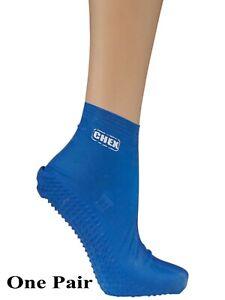 e0c09d0d6114 Detalles de Chex Natación Calcetines Anti Verrugas 100% Látex Azul Infantil  Mujer Hombre