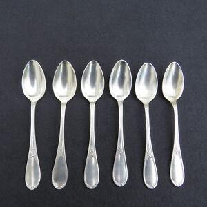 ERCUIS-6-cuillere-a-cafe-en-metal-argente-modele-laurier