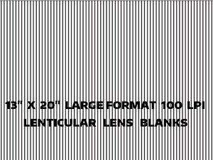 "10 LARGE SHEETS 13"" X 20"" 100 LPI 3D Flip Lenticular Plastic Lens Blanks"