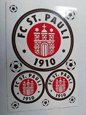 Aufkleber 3er Set , Original FC St.Pauli, Merchandise, witterungsbeständig