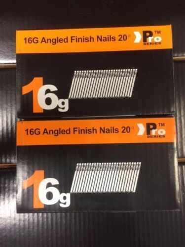 500 each size 38mm//63mm 1000 x Mixed Angled 16G Nails DEWALT DC618KB /& DCN660