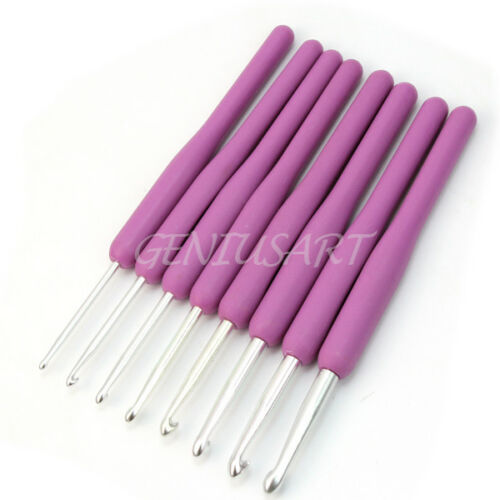 8Pcs un Couleur Crochet Crochets fil aiguilles à tricoter Set Kit avec étui Outil