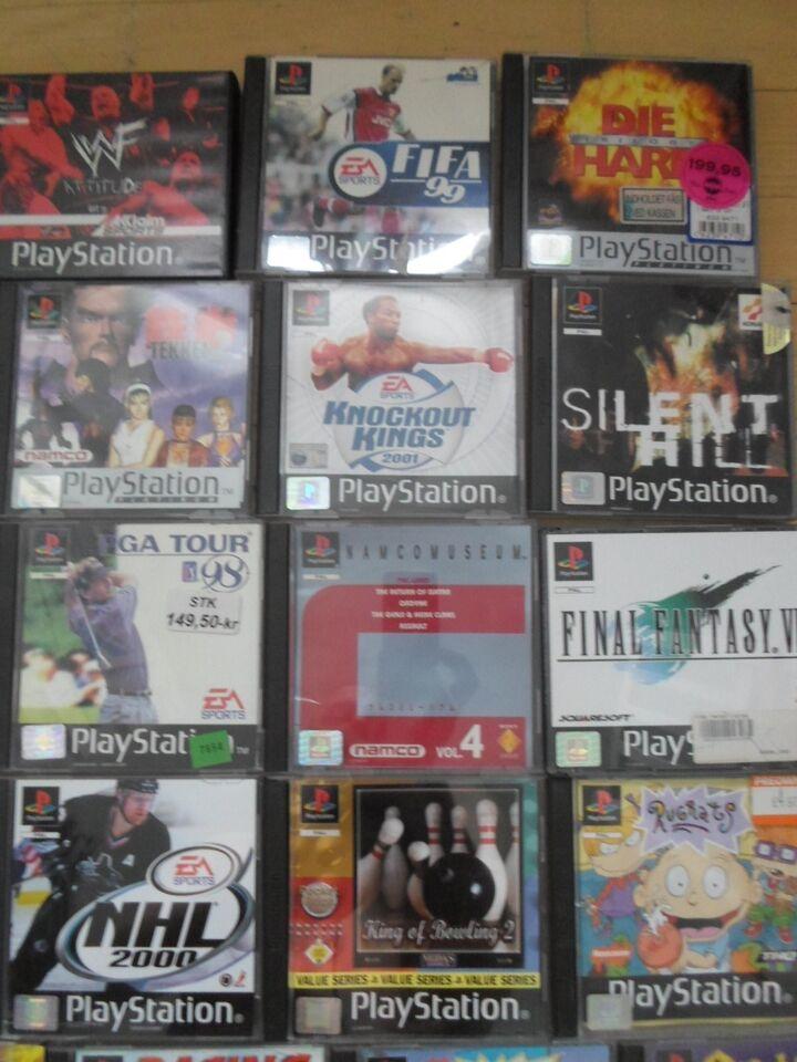 playstation 1 spil sælges