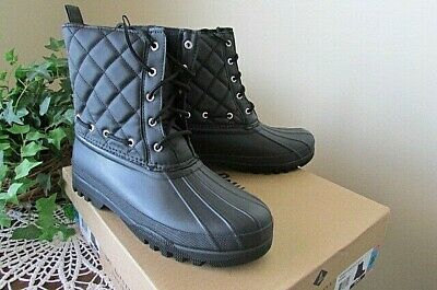 Paul Sperry Gosling Boot Black quilted