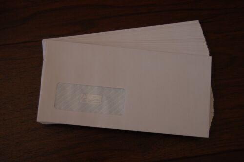 Haute Qualité Blanc Self Seal Enveloppes fenêtre DL A4/3 forte 100gsm papier