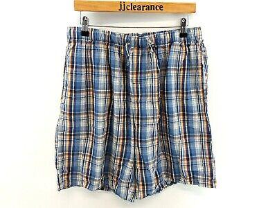 Chaps Ralph Lauren Da Uomo Sleepwear Pantaloncini Xl W34 L8 Blu Cotone Check Rosso-mostra Il Titolo Originale