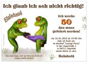 Witzige Einladungskarten 18 20 25 30 40 Jedes Alter Moglich Frosch