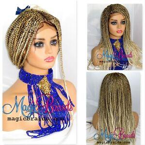 Blond Wig 4 By 4 Closure Braided Wig Cornrow Braided Handmade