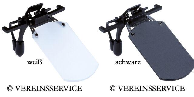 Abdeckscheibe Blende für Brille in weiß/transparent oder schwarz (Angebot Nr. 5)