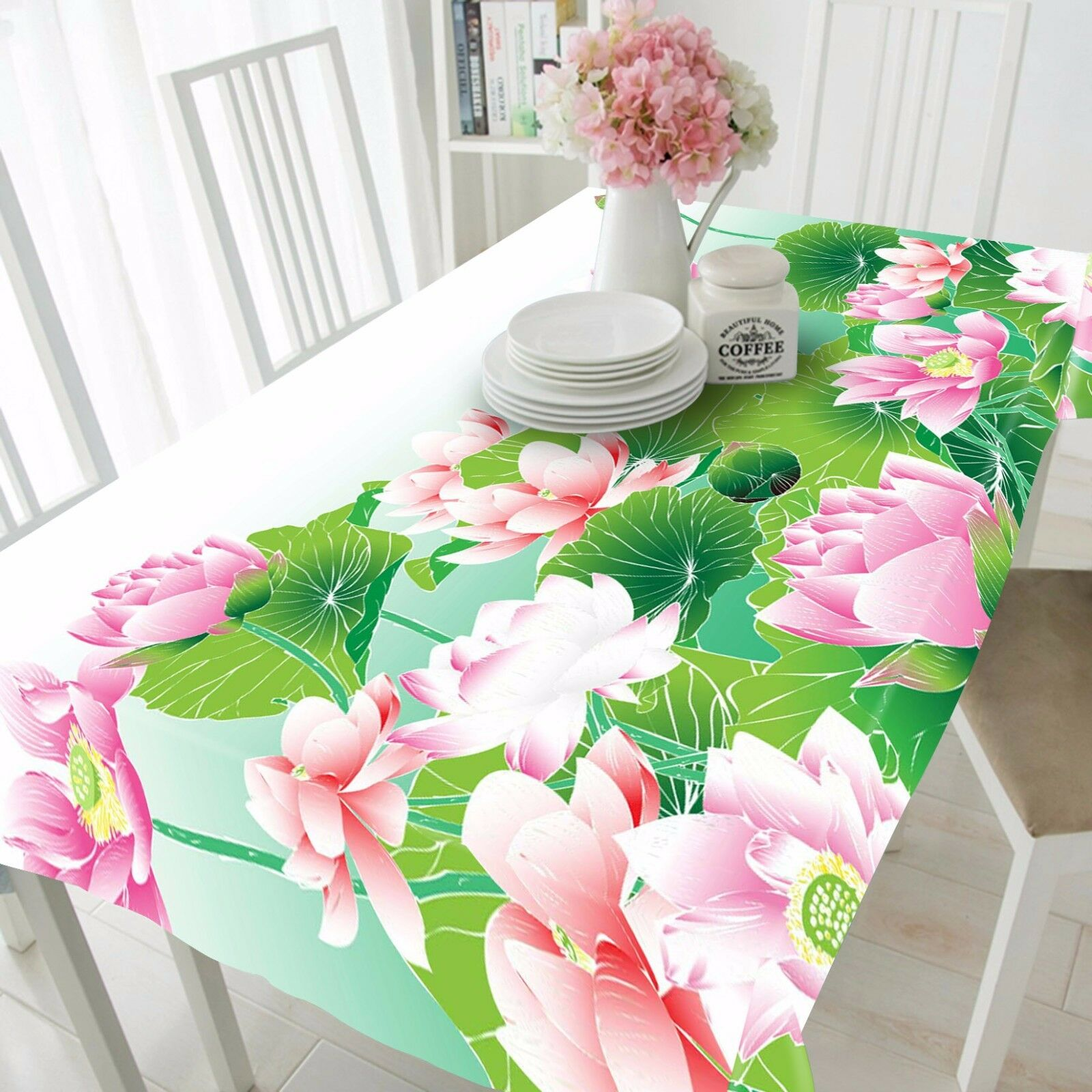 3D Lush Lotus 278 Tablecloth Table Cover Cloth Birthday Party Event AJ WALLPAPER