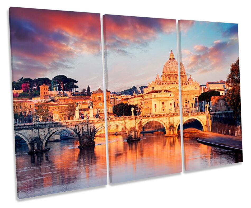 St Peters Basilica Rome  Bild TREBLE CANVAS Wand Kunst Drucken