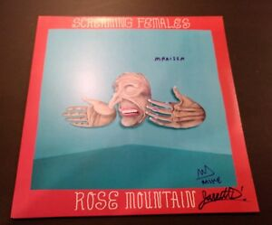 SCREAMING-FEMALES-SIGNED-ROSE-MOUNTAIN-LP-vinyl-record-COA