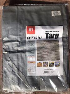 Reflective TARP HFT Heavy Duty Weather Resistant Size 5'6 FT x 7'6 FT NEW 9 Mil