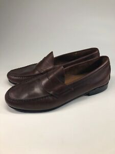 GH Bass Weejuns Leather Sole Brown Penny Loafers Dress ...