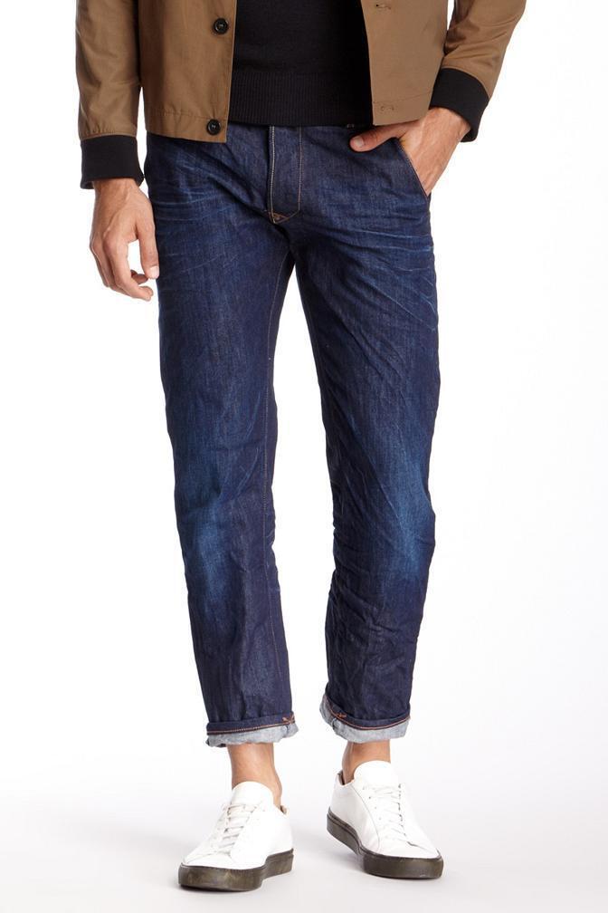 Gilded Age Houston Herren Schräg Tasche Slim Fit Jeans Hergestellt in Italien