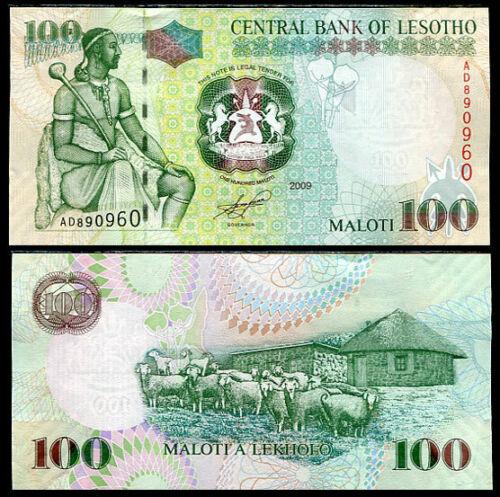 LESOTHO 100 MALOTI 2009 P 19 UNC