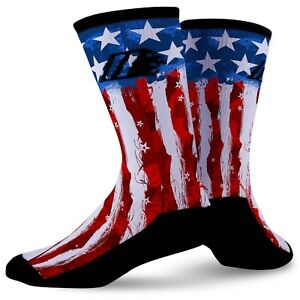 Details about Custom Socks USA Flag Bright Colors All Sizes