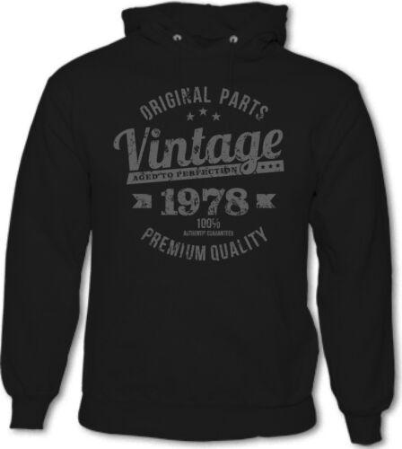 Vintage Year 1978 Premium Quality Mens 41st Birthday Hoodie 41 Year Old Gift