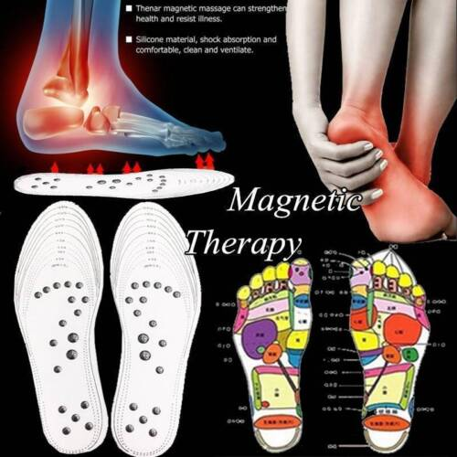 1Pair Foot Care Cushion Acupressure Slimming Magnetic Shoe Insoles Pad Massage